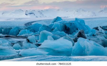Jokulsarlon Icebergs at Dawn