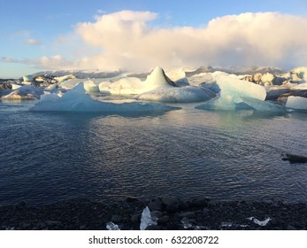 Jokulsarlon is a large glacial lake in southeast Iceland, on the edge of Vatnajokull National Park.