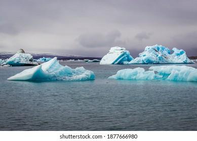 Jokulsarlon - literally glacial river lagoon, large glacial lake in Iceland