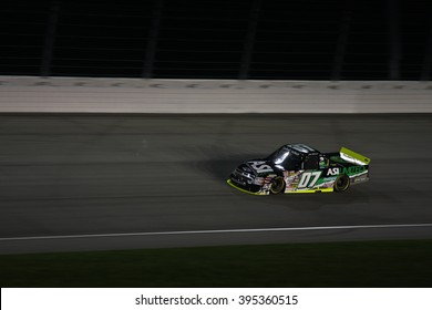 Joliet, IL USA - August 28, 2009: Chicagoland Speedway 225, NASCAR Camping World Truck Series. 07 Chad McCumbee, ASI Limited Chevrolet