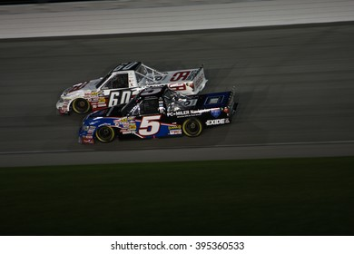 Joliet, IL USA - August 28, 2009: Chicagoland Speedway 225, NASCAR Camping World Truck Series. 5 Mike Skinner PC Miler Navigator Toyota