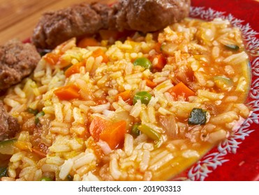 Jollof rice also called 'Benachin'  is a popular dish in many parts of West Africa.especially Nigeria, Togo, Ghana, Sierra Leone and Liberia