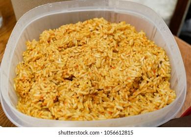 Jollof rice is a nigeria style food.