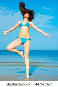 Jolly Girl Exercising Model