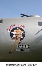 Joltin Josie nose art. World War II Bomber