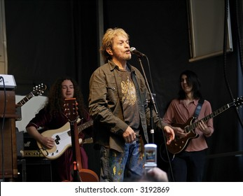 """Jon Anderson of the classic rock group """"Yes"""" was recently on stage with The School of Rock kids for a lunch time Earth Day concert at Grand Central station."""