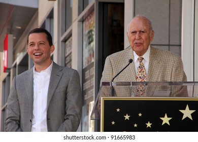 Jon Cryer, Carl Reiner at Jon Cryer's induction into the Hollywood Walk of Fame, Hollywood, CA. 09-19-11