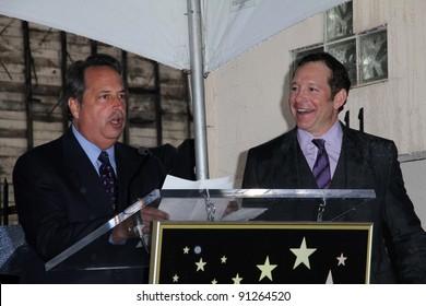 Jon Lovitz and Steve Guttenberg at Steve Guttenberg's Star on the Hollywood Walk of Fame Ceremony, Hollywood, CA 12-12-11