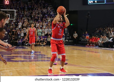 f30041a03 Jonathan Mitchell guard for the Delaware State University Cardinals at GCU  Arena in Phoenix, Arizona