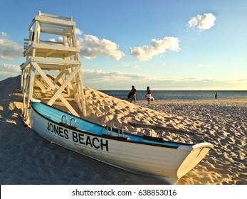 Jones Beach, Long Island, NY, Life Guard Stand and Life Guard Boat