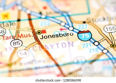 Map Of Jonesboro Georgia.Jonesboro Arkansas Usa Stock Photo Edit Now 391430482 Shutterstock