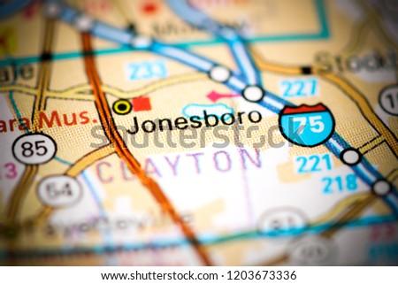 Map Of Jonesboro Georgia.Jonesboro Georgia Usa On Map Stock Photo Edit Now 1203673336