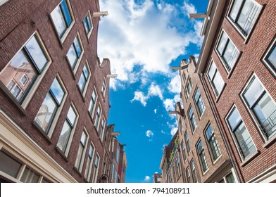 Jordaan neighbourhood architecture in Amsterdam-Centrum, the Netherlands.