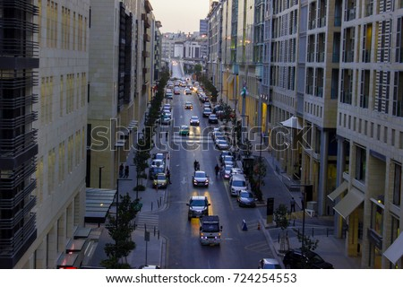 Jordan Abdali Boulevard Stock Photo Edit Now 724254553
