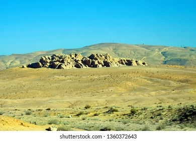 Jordan, arid and treeless landscape