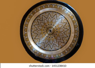Jordan, beautiful decorated round table.