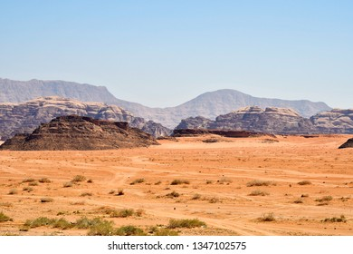 Jordan, great scenery in Wadi Rum