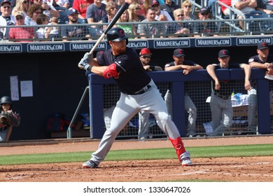 Jordan Luplow right fielder for the Cleveland Indians at Peoria Sports Complex in Peoria,AZ/USA March 4,2019.