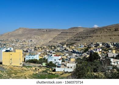 Jordan, mountain villages around Wadi Musa