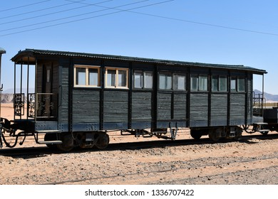 Jordan, old railway waggon in Wagi Rum Station