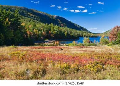 Jordan Pond in Acadia National Park on Mount Desert Island, Maine
