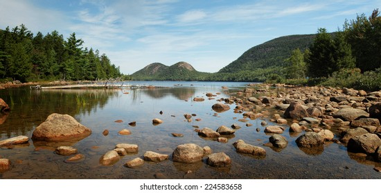 Jordan Pond at Acadia national park, Mount Desert island, Maine, USA