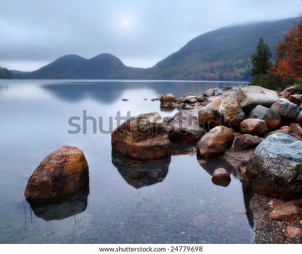 Jordan Pond In Autumn, Acadia National Park, Maine