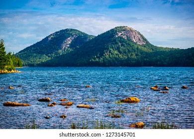 The Jordan Pond Path Trail in Acadia National Park, Maine