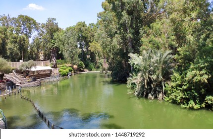 Jordan river in Israel where Jesus Christ was baptized, holy place for many believers