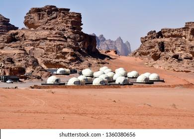 Jordan, space camp for tourists in Wadi Rum