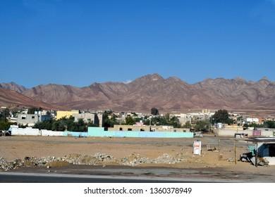 Jordan, tiny village on countryside near Aqaba city