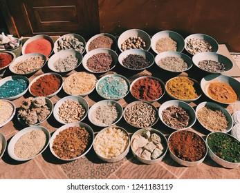 Jordanian Spices in Petra, Jordan