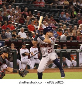 Jose Altuve 2nd baseman for the Houston Astros at Chase Field in in Phoenix AZ USA August 14,2017.