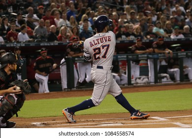 Jose Altuve infielder for the Houston Astros at Chase Field in Phoenix,Arizona USA May 4,2018.    -D-Backs