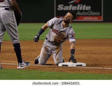 Jose Altuve second basemen for the Houston Astros at Chase Field in Phoenix,AZ USA May 6,2018.