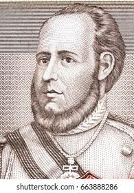 Jose Ballivian portrait from Bolivian money