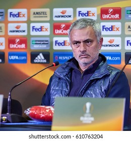 """Jose Mourinho, coach of """"Manchester United"""" at the pre-match press conference. Match between the FC """"Rostov"""" and """"Manchester United"""" 09 March 2017 in Rostov-on-Don, Russia."""
