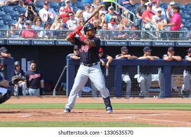 Jose Ramirez 3rd basemen for the Cleveland Indians at Peoria Sports Complex March 4,2019.
