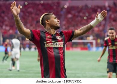 Josef Martinez  7 MLS Atlanta United host Philadelphia Union on June 2nd 2018 at the Mercedes Benz Stadium in Atlanta, Ga - USA