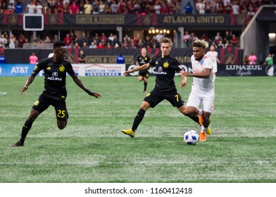 Josef Martinez #7 - MLS- Atlanta United Vs. Columbus Crew SC at the Mercedes Benz Stadium in Atlanta Ga. Sunday August 19th 2018 MLS Game #281