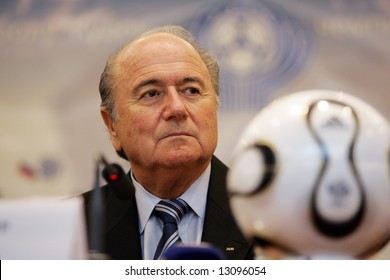 Joseph Sepp Blatter, current President of FIFA, attends a press-conference in Moscow on January 20, 2007.