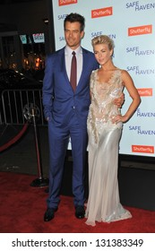 """Josh Duhamel & Julianne Hough at the premiere of their movie """"Safe Haven"""" at the Chinese Theatre, Hollywood. February 5, 2013  Los Angeles, CA Picture: Paul Smith"""