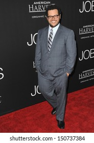"Josh Gad at the Los Angeles premiere of his movie ""Jobs"" at the Regal Cinemas LA Live. August 13, 2013  Los Angeles, CA"