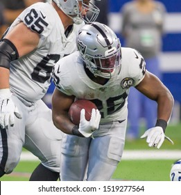 Josh Jacobs #28 - Indianapolis Colts host Oakland Raiders on Sept. 29th 2019 at Lucas Oil Stadium in Indianapolis, IN. - USA
