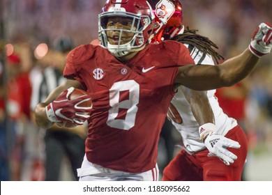 Josh Jacobs 8-Alabama Football Campingworld Kickoff September 1st, 2018 in Orlando Florida -USA Alabama Crimson Tide Vs. Louisville Cardinals