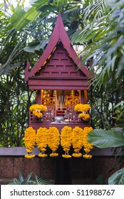 joss house Spirit House  ( Thai call san phra phum) is surrounded by a beautiful natural radiance in Thailand.