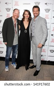 """Joss Whedon, Amy Acker and Alexis Denisof at the """"Much Ado About Nothing"""" Los Angeles Premiere, Oscar Outdoors, Hollywood, CA 06-05-13"""
