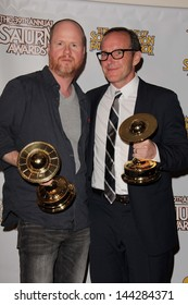 Joss Whedon and Clark Gregg at the 39th Annual Saturn Awards Press Room, The Castaway, Burbank, CA 06-26-13