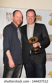 Joss Whedon and Kevin Feige at the 39th Annual Saturn Awards Press Room, The Castaway, Burbank, CA 06-26-13