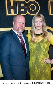 Joss Whedon, Riki Lindhome attends HBO Post Award Reception Following The 70th Primetime Emmy Awards  at The Plaza At The Pacific Design Center, Los Angeles, California on September 17th, 2018